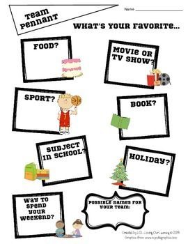 TEAM BUILDING AND CLASS BUILDING ACTIVITIES FOR BACK TO SCHOOL- SPORTS THEME - TeachersPayTeachers.com  (9 pages, $)