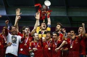 With current Euro Champions Spain in the group we find the standings are in Euro 2016 qualifying group C. http://www.soccerbox.com/blog/euro-2016-qualifying-group-c/ Exclusive discount coupon for money off at Soccer Box!