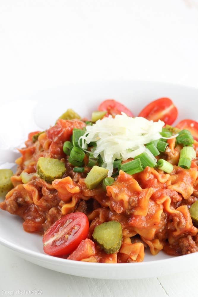 Easy Hamburger Casserole recipe made under 30 minutes with simple ingredients to create the perfect go-to meal for the work week. Doesn't get any easier!