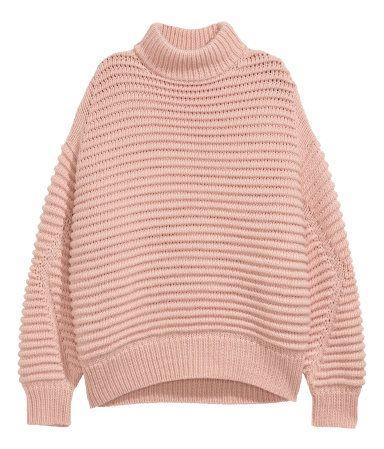Knit Wool Blend Sweater Powder Pink Sale Hm Us 29 Sale Hm