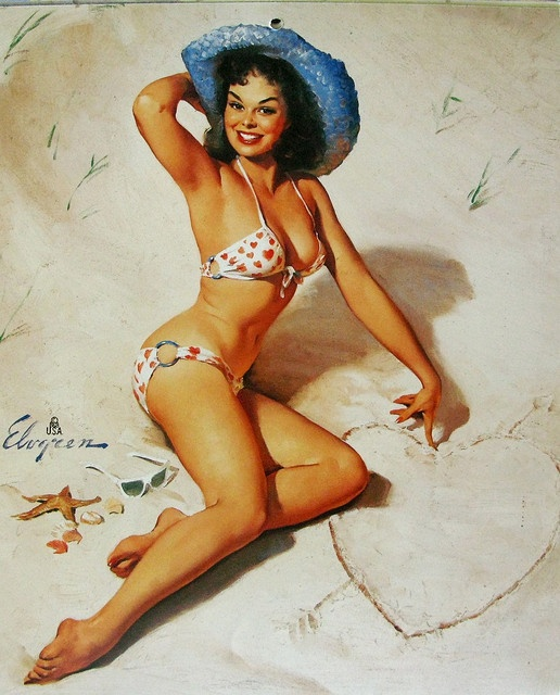 Just for You (Sand Witch) Gil Elvgren, 1961