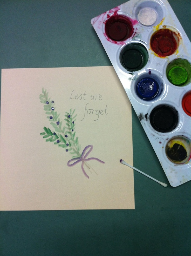 Rosemary Paintings - very simple way to paint this symbol of remembrance.
