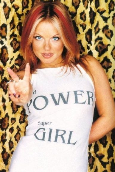 Ginger Spice Girl Power! Geri had to be the first female that I thought hm she's…