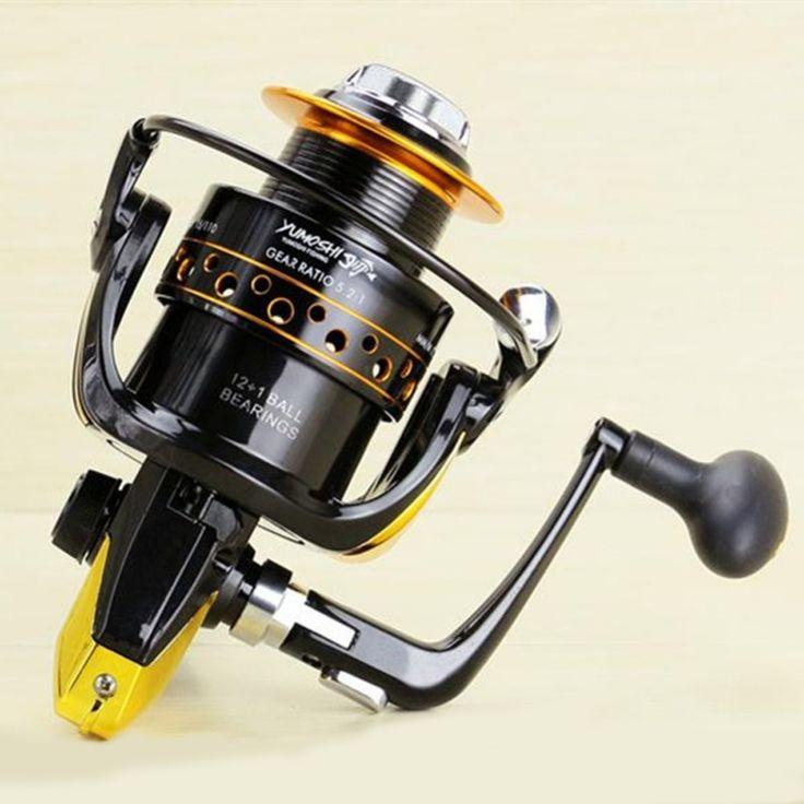 Hot Metal Fishing Reel Spinning 12+1BB 5.1:1 Fishing tackle Pesca Carrete Spinning Reel Feeder Carp Fishing Wheel 2000-9000