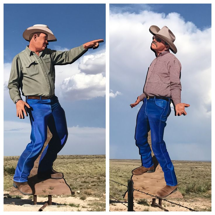 Feuding Ranchers - art installation between Roswell and. Vaughn, New Mexico #ranch #newmexicoart #cattleraisers #eatbeef