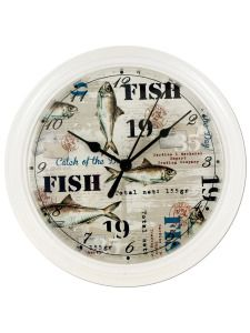 OF544-Bulk Buys OF544 Fishing Theme Clock (Pack Of 4 ) Buy It In Bulk - Bringing the Warehouse Club experience straight to your door