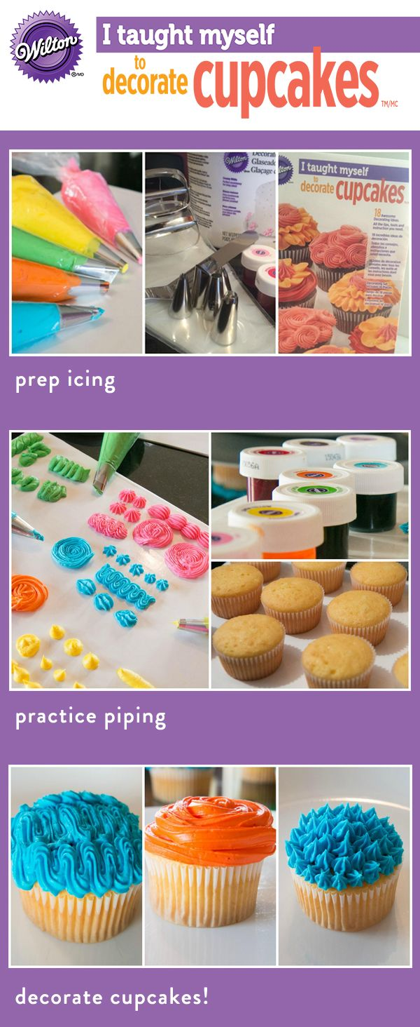 Cupcake Decorating Ideas Step By Step : 25+ best ideas about How To Decorate Cupcakes on Pinterest ...