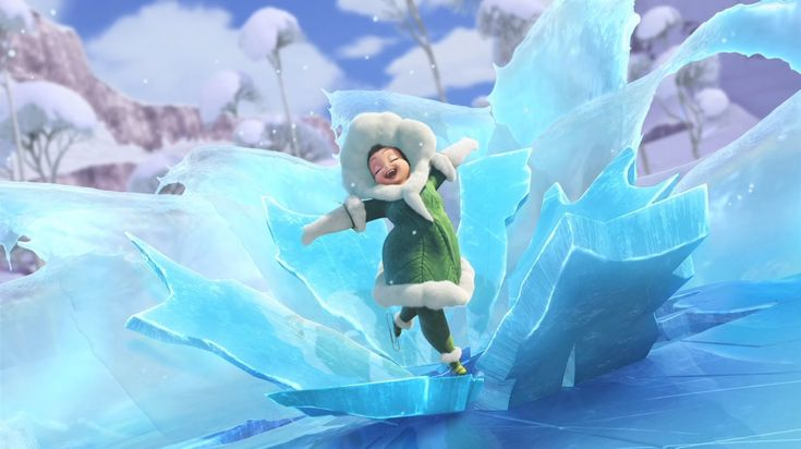 """Secret of the Wings - """"How to Ice Skate"""" (Chubby, graceful fairy who can ice-skate? Yep, that's Khione in a nutshell!)"""
