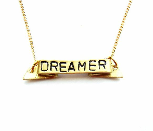 """POSITIVE MANTRA NECKLACE - Available in """"Fearless,"""" """"Courage,"""" """"Strength,"""" or """"Dreamer."""""""