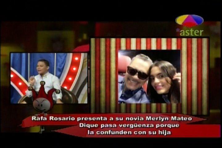 Rafa Rosario Presenta A Su Novia Merlyn Mateo, Dizque Pasa Vergüenza Porque La Confunden Con Su Hija