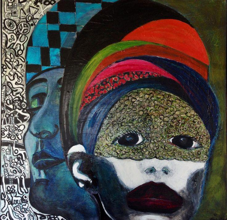 100 cm x 100 cm acryl by Marianne Nielsen