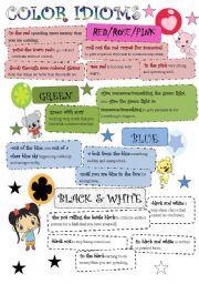 idioms with colors - Buscar con Google