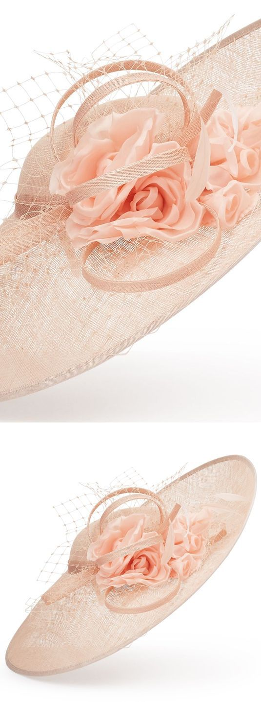 Jacques Vert Flower Trim Disc Fascinator, Hatinator Hat. The Perfect Finishing Touch, This Gorgeous Blush Pink Disc Headpiece With A Soft Pink Flower Makes For A Stylish Occasion Wear Look for Mother of the Bride, or Pretty Racing Day at the Races Fashion. #fashion #hats #millinery #attheraces #ascothats #affiliatelink #royalascot #designerhats
