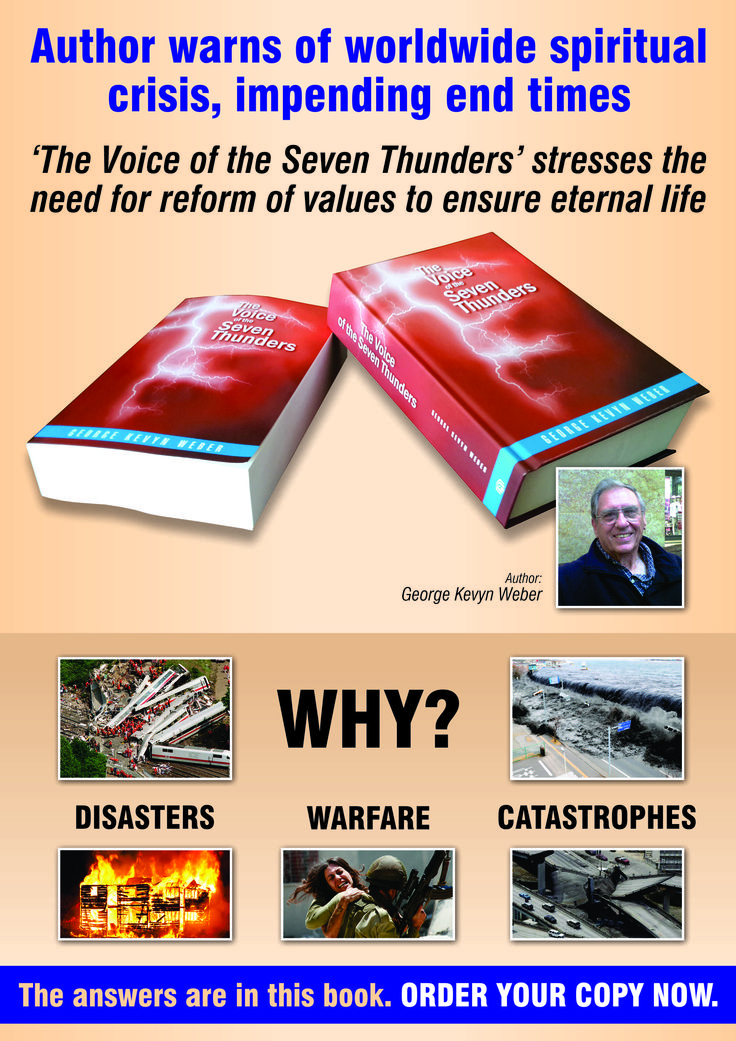 Books available at www.lighthouseklerksdorp.co.za or lighthouse1@saharaonline.co.za or Author house, U.K. on line. link: http://bookstore.authorhouse.com/AdvancedSearch/Default.aspx?SearchTerm=the+voice+of+the+seven+thunders or on Amazon link: http://www.amazon.com/s/ref=nb_sb_noss_1?url=search-alias%3Dstripbooks&field-keywords=george+kevyn+weber