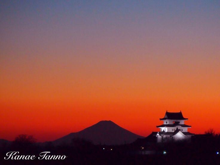Mt.fuji & Sekiyado Castle.