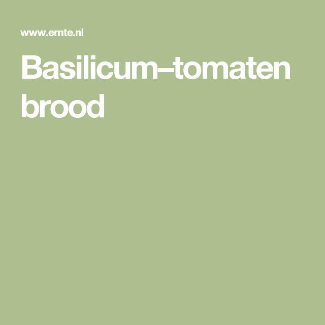 Basilicum–tomatenbrood