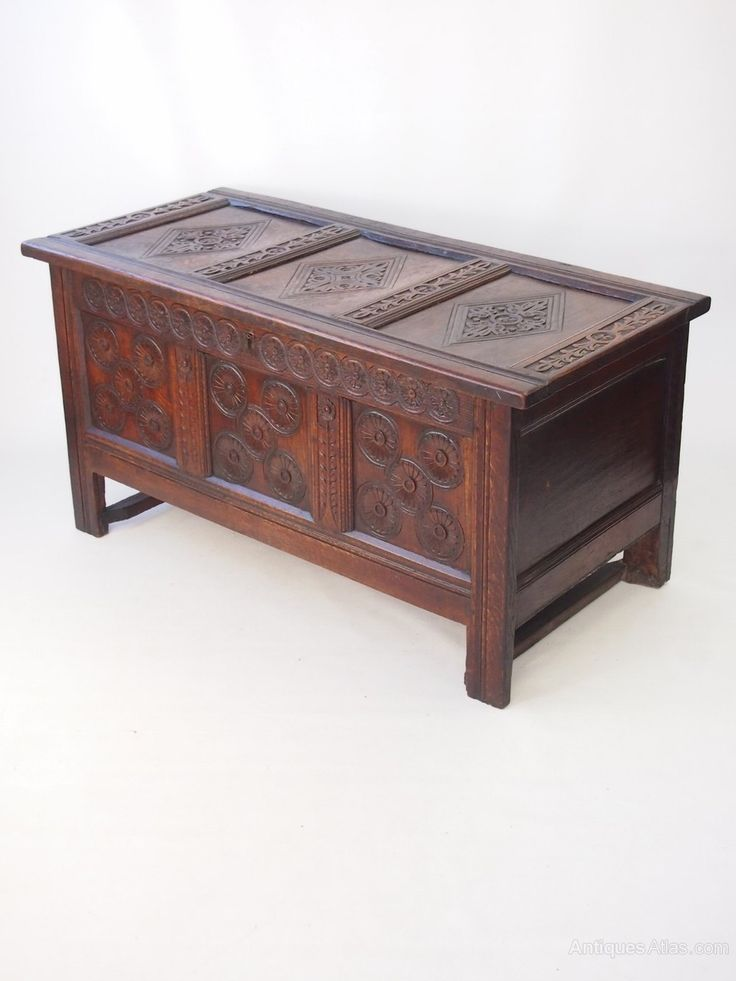 William & Mary Carved Oak Coffer Circa 1690 - Antiques Atlas