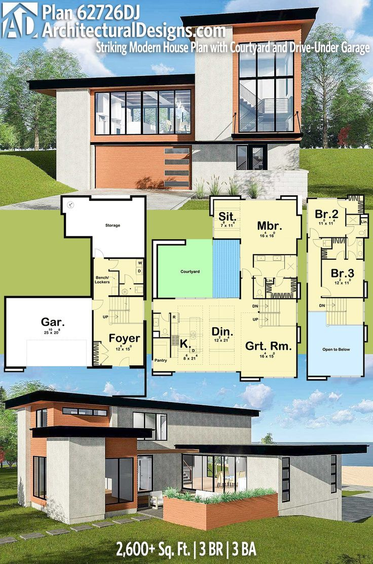 Modern house plans architectural designs modern farmhouse plan 62726dj has 3 beds and 3 baths and 2
