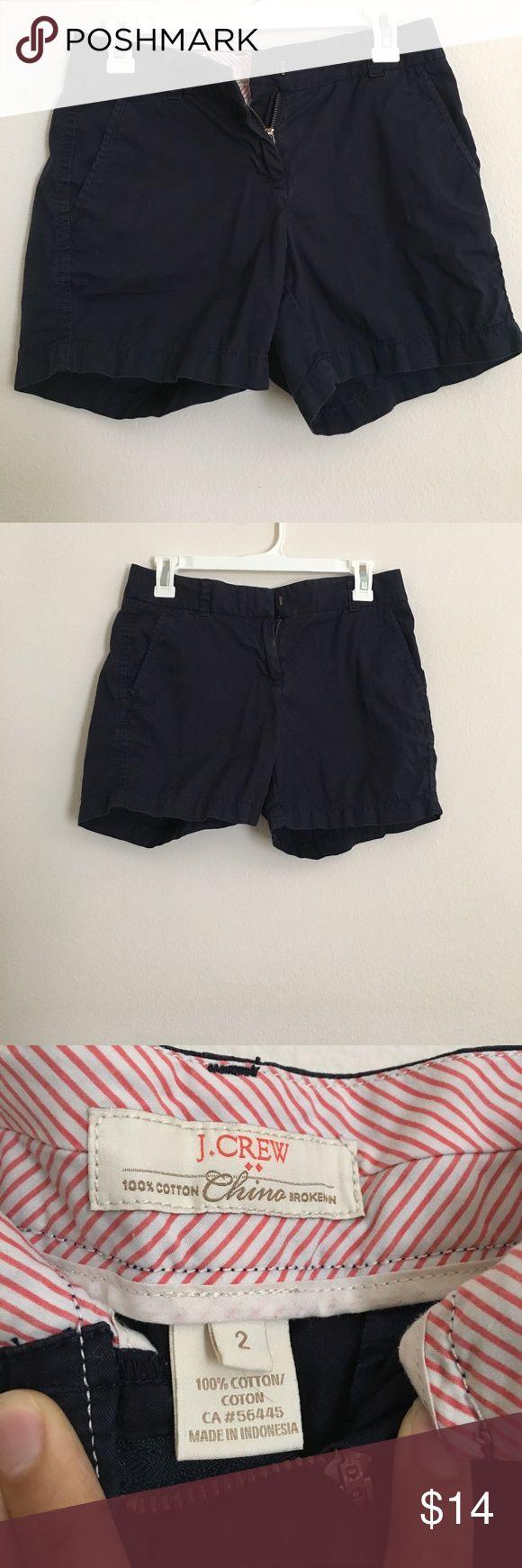J. CREW Navy Blue Shorts J CREW Navy Blue shorts, size: 2, 100% cotton, hardly worn J. Crew Shorts