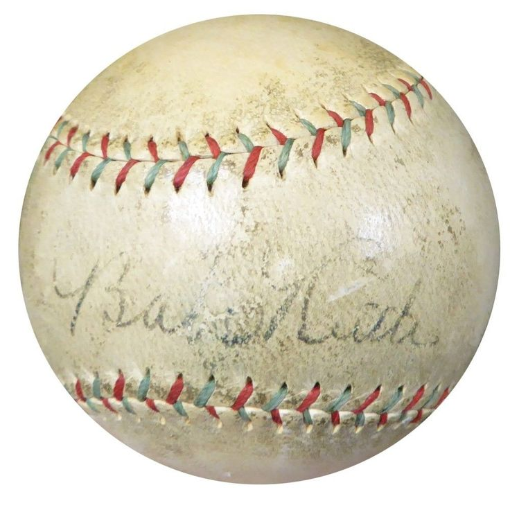 Babe Ruth & Lou Gehrig Autographed Signed Official Spalding Baseball PSA/DNA