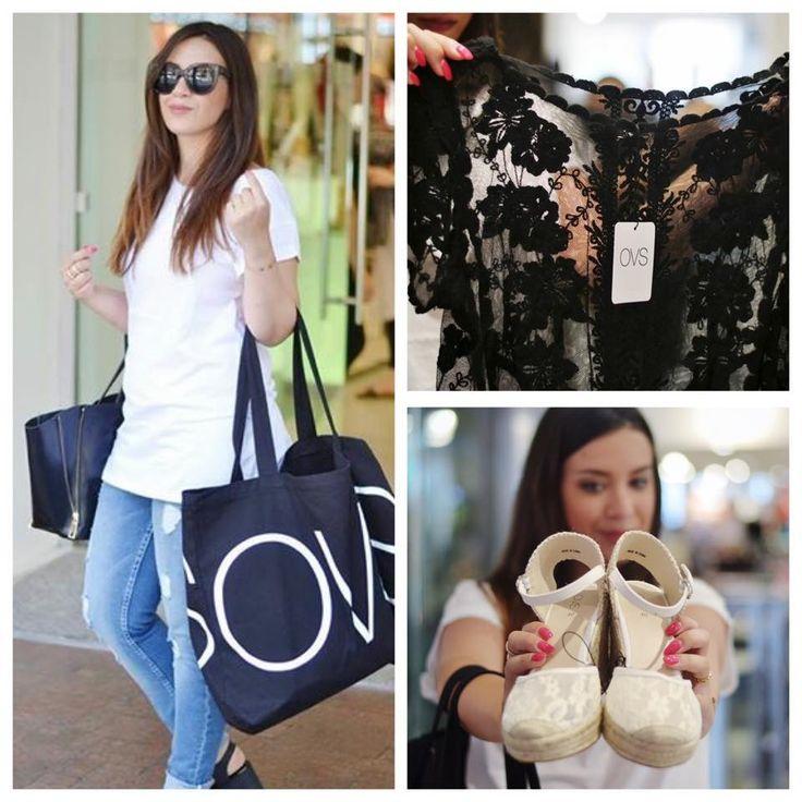 """""""L'unico desiderio di una donna, quando fa shopping, è trovare degli abiti che sembrino cuciti su di lei. Questo è ciò che ho provato durante la mia #OVS Experience!"""" #OVSPEOPLE #OVSJOURNEY BARBARA CONTE"""