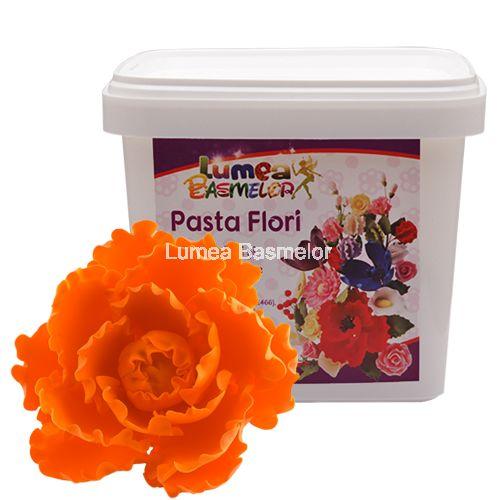 Pasta Flori Lumea Basmelor portocaliu - Fondant (pasta de zahar), martipan - Materii prime decorațiuni pentru torturi, ustensile pentru cofetării