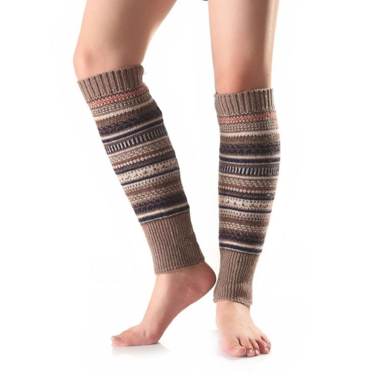 LEERYA 1 Pair Women Stripe Knitted Stocking Leg Plush Cover Button Trim Socks (Khaki). Our leg warmers are any boot's best friend. We love them with rain or ankle-length boots. You can Pair them with tights, leggings, skirts, skinny jeans for a sweet cozy look. Girls essential accessories, allows you to look petite and cute in the winter. The necessary accessory for the winter season when you go outside.