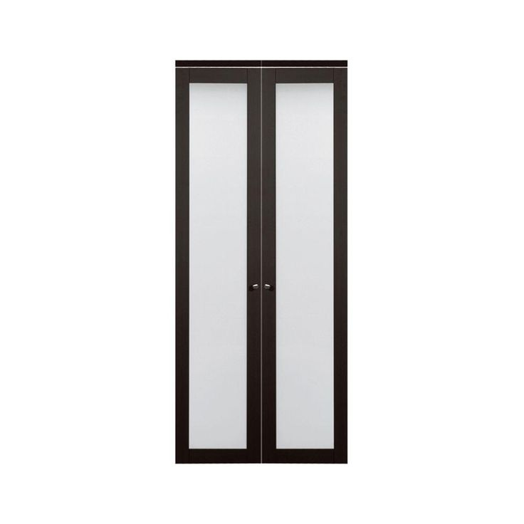 TRUporte 36 in. x 80 in. 3030 Series 1-Lite Tempered Frosted Glass Composite Espresso Interior Closet Bi-fold Door - 247238 - The Home Depot