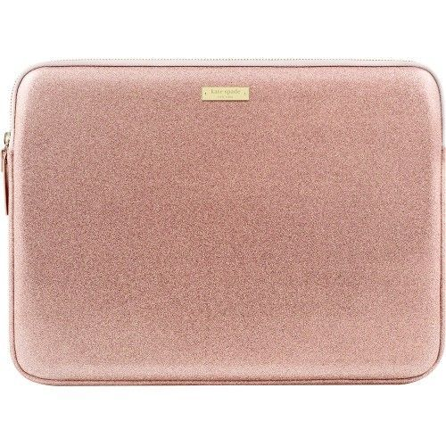 "kate spade new york - Glitter Sleeve for 13"" Apple® MacBook® - Rose Gold - Front Zoom"
