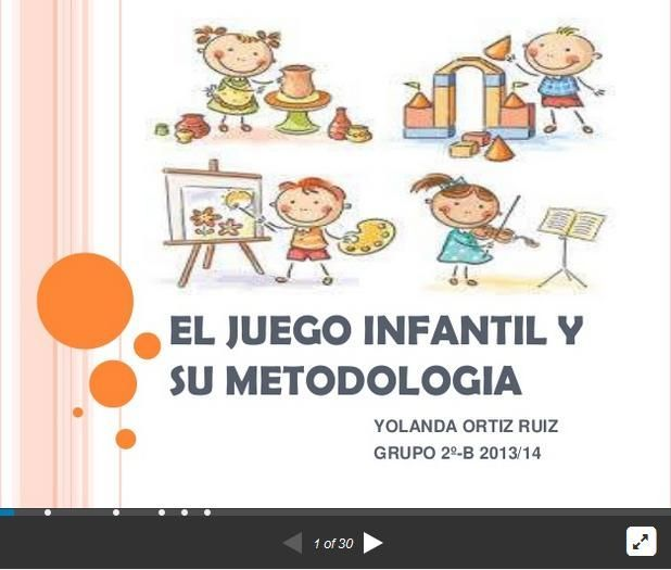"""Hola: Compartimos una interesante presentación sobre """"Metodología del Juego en el Aula Infantil"""" Un gran saludo.  Visto en: slideshare.net Acceda a la presentación desde: AQUÍ  También ..."""