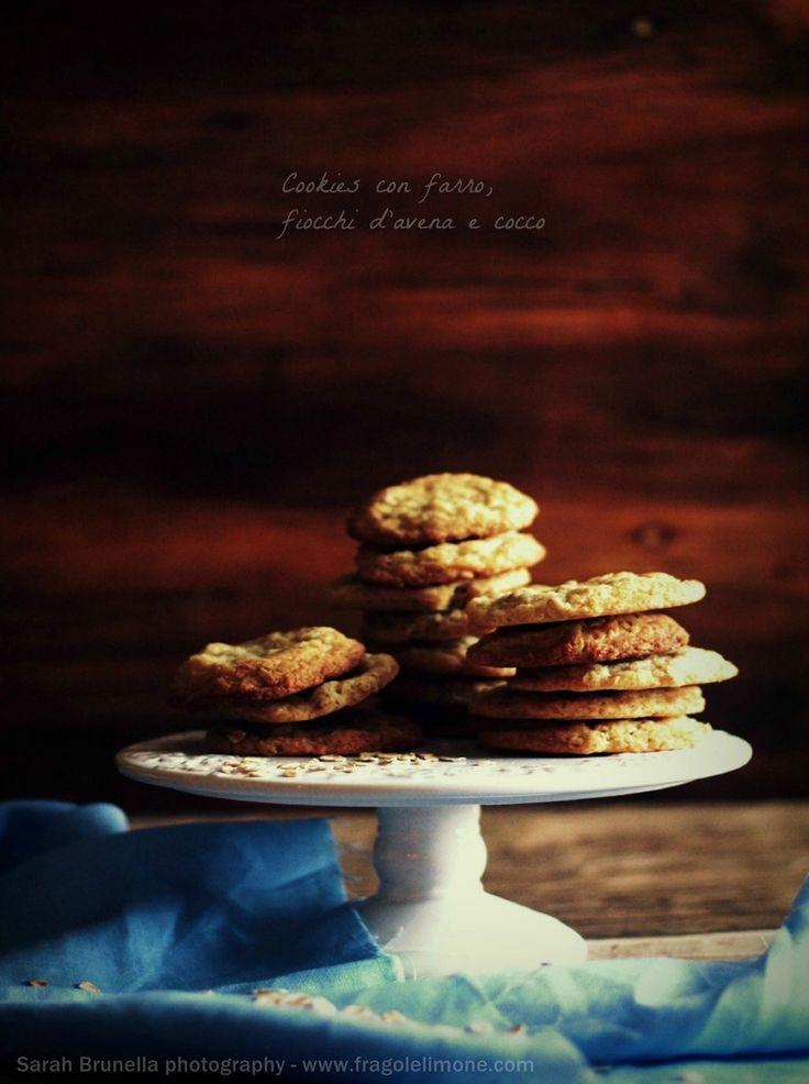 Biscotti con fiocchi d'avena e cocco, Oats and coconut cookies - Sarah brunella photography