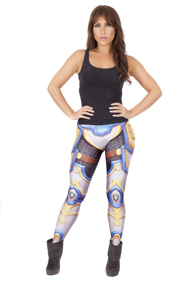 WoW Alliance Leggings! I have one toon I still play (priest). These are such a badass design! Designed by Zach Fischer!!