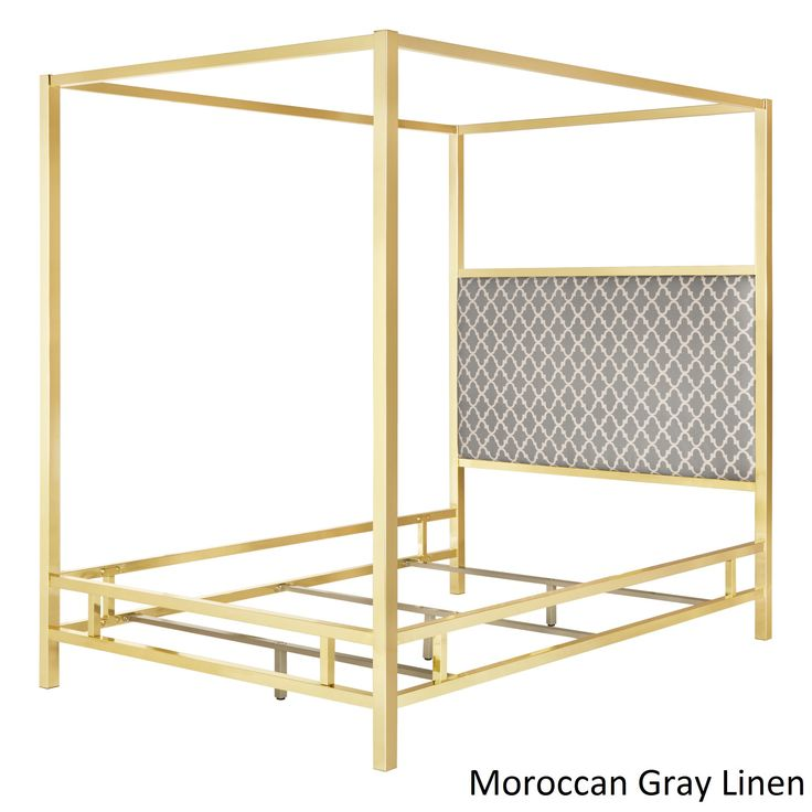 Solivita Queen-size Canopy Gold Metal Poster Bed by iNSPIRE Q Bold