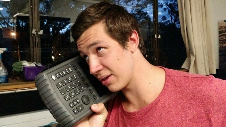 Tom with the big phone...