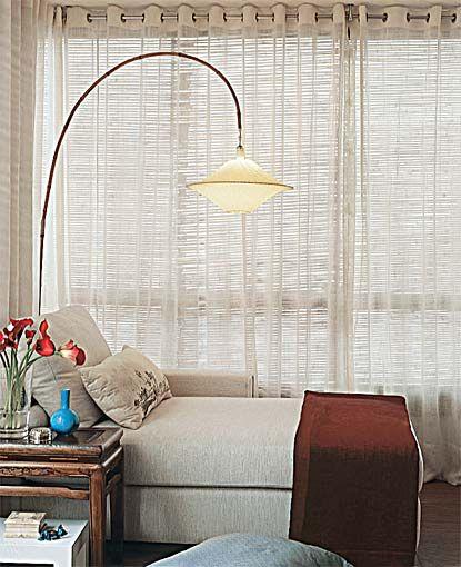 Cortina (painéis de bambu e gaze de linho)