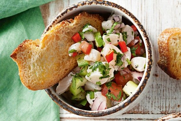 Kick the party off with zesty ceviche with a tequila twist.