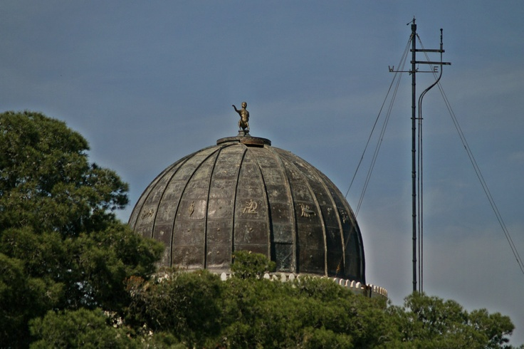 The beautifully ornate dome of the National Observatory. (Walking Athens, Route 07 - Philopappos Hill)