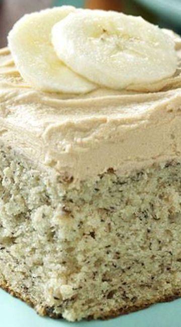 Potluck Banana Cake ~ Banana Cake with Coffee Frosting