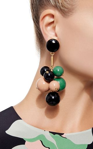 Beaded Drop Earrings by MARNI Now Available on Moda Operandi