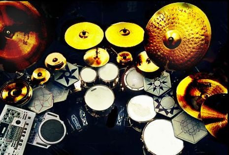 danny carey's drum set...would be perfect!