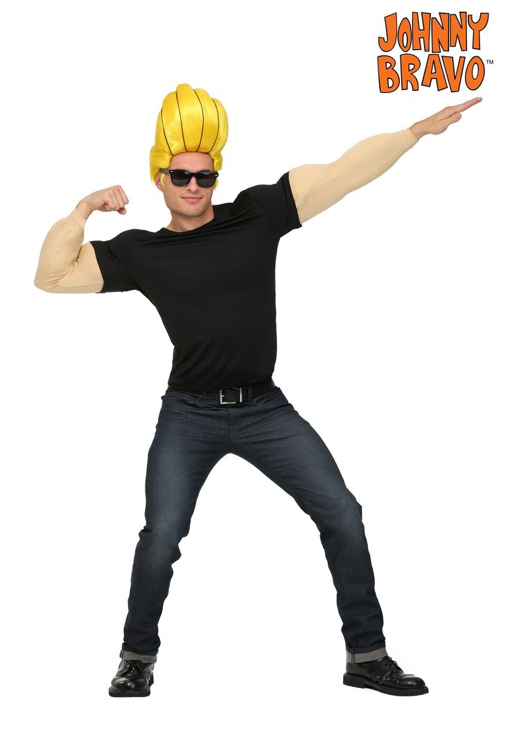 Johnny Bravo Plus Size Mens Costume