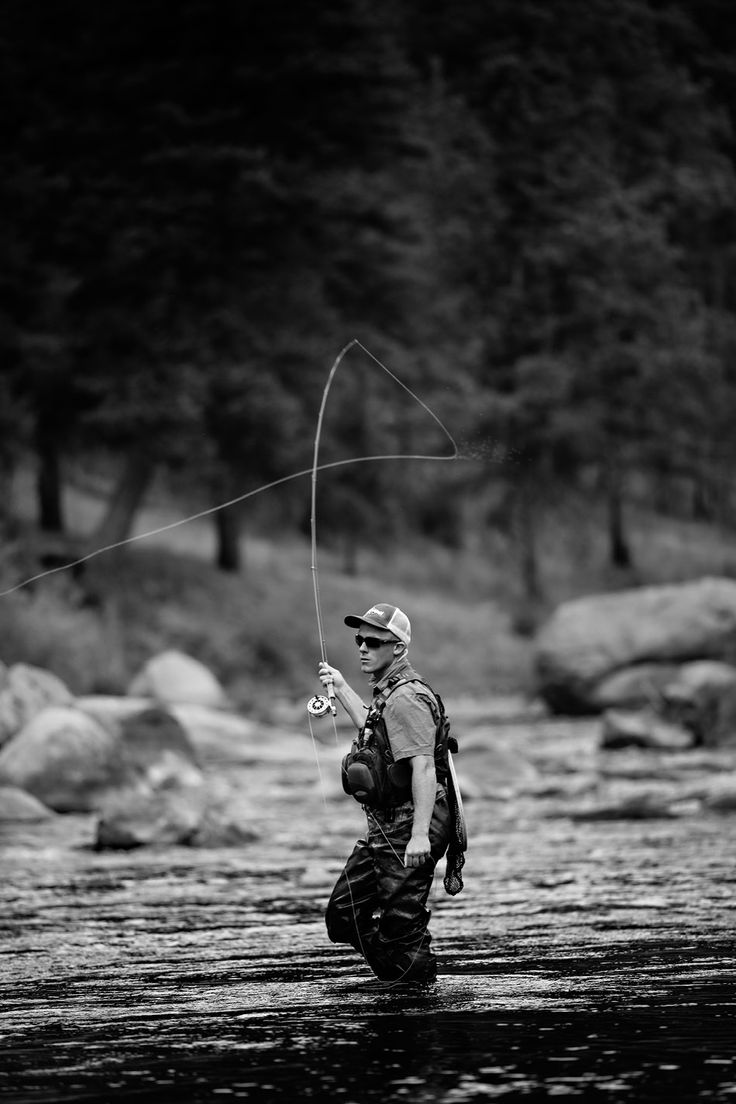 Fly Fishing Engagement Photos in Colorado  #engagement