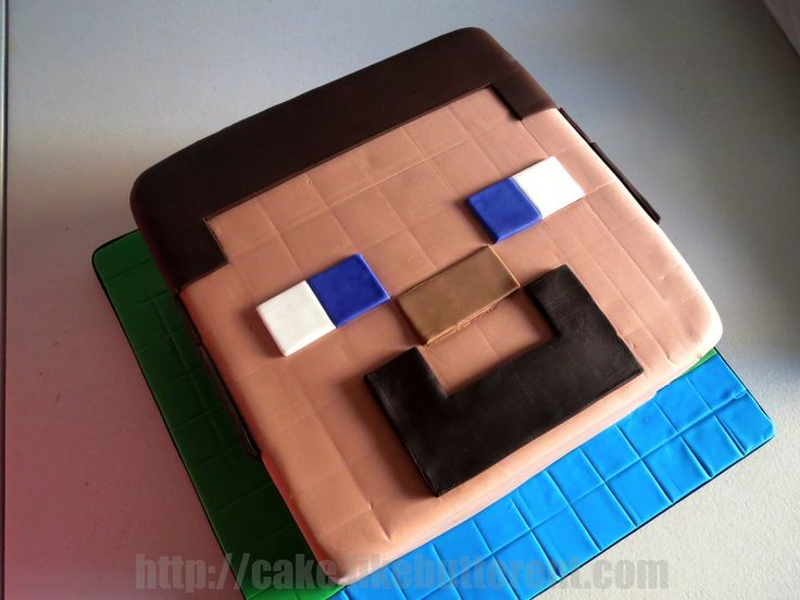 Minecraft Steve Head Cake | Yelp