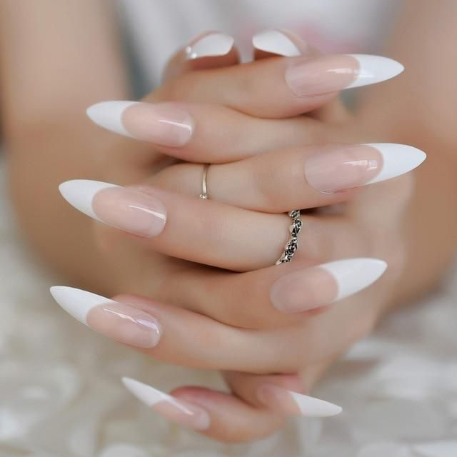 Extra Long Stiletto False Nails Pre Designed Curved Pink Marble Press On Nails Including Glue Sticker Long Stiletto Nails French Stiletto Nails Stiletto Nails