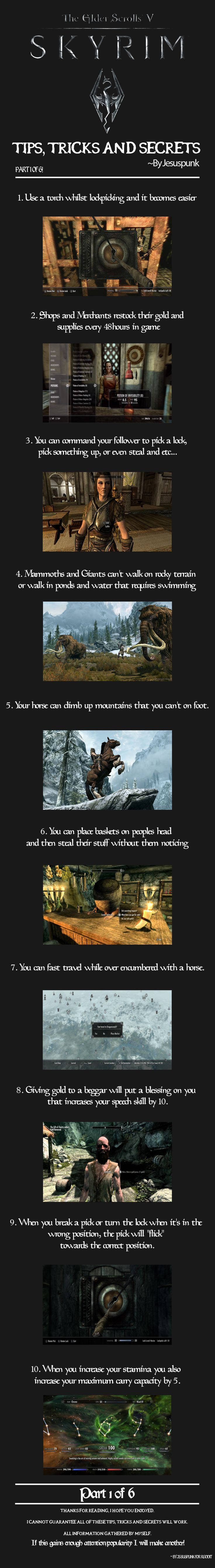 Eh, many of these I knew and/or are pointless. Who needs tricks when you're already epic? Still, I'll repin it. :P