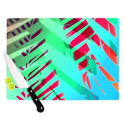 "East Urban Home Cool Tropical by Alison Coxon Cutting Board Size: 11.5"" x 15.75"""
