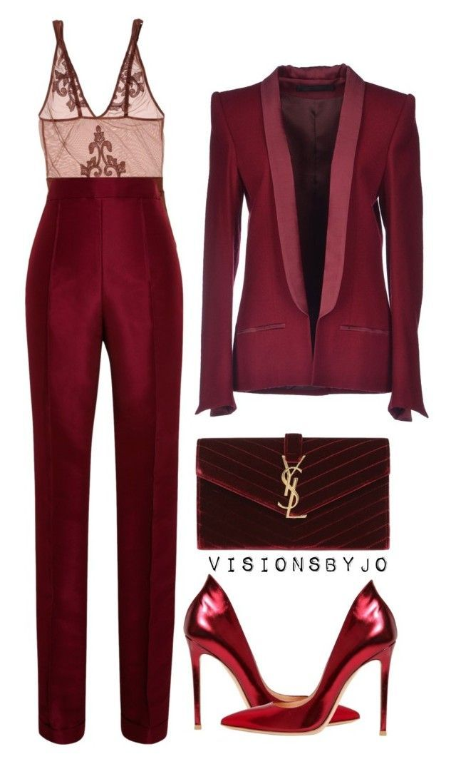 """Untitled #1538"" by visionsbyjo on Polyvore featuring Golden Goose, Rosie Assoulin, Haider Ackermann, Gianvito Rossi, Yves Saint Laurent, women's clothing, women, female, woman and misses"