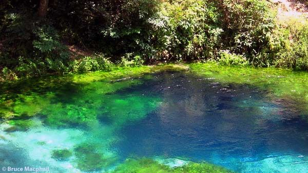 The Blue Eye Water Spring in Southern Albania