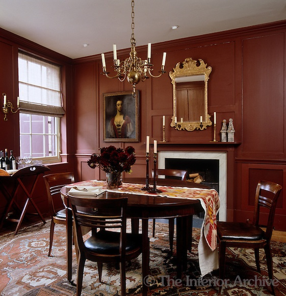 Malcolm James Kutner The Georgian Dining Room Table Has An Ikat Runner By Robert Kime And Is Surrounded Antique French Walnut Chairs