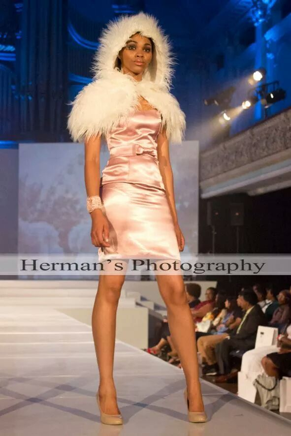 Pink dress by Brenda Waring, Whatevs designs